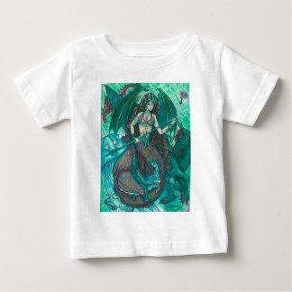 T-shirt Pour Bébé Vert de Teal de mer d'océan de licorne de sirène