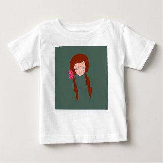 T-shirt Pour Bébé Vert d'Eco de cheveux de FEMME de SANTÉ long