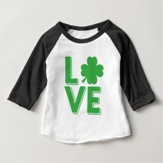 T-shirt Pour Bébé Vert irlandais de shamrock du jour de St Patrick