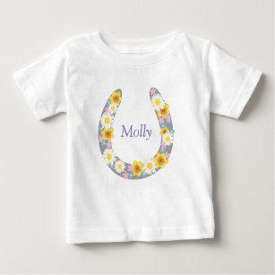 T-shirt Pour Bébé Vêtement floral de chaussure de cheval de