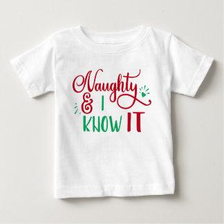 T-shirt Pour Bébé vilain et moi sachez-le Noël drôle