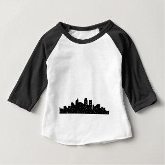 T-shirt Pour Bébé Ville de panorama dans la neige