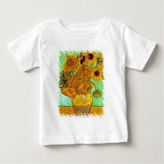 T-shirt Pour Bébé Vincent van Gogh - vase avec douze tournesols