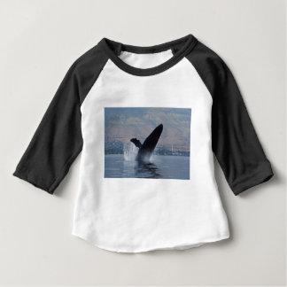 T-shirt Pour Bébé violation de baleine de humback