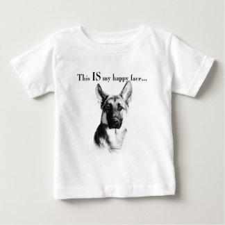 T-shirt Pour Bébé Visage heureux de berger allemand