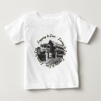 T-shirt Pour Bébé Vivant au rondin, notant pour vivre