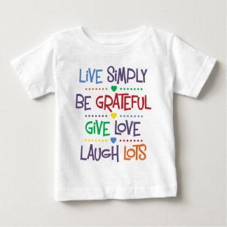 T-shirt Pour Bébé Vivez simplement