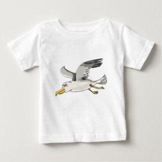 T-shirt Pour Bébé vol de mouette de bande dessinée aérien