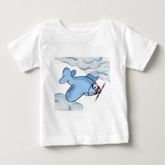 T-shirt Pour Bébé vol plat de bande dessinée cependant les nuages