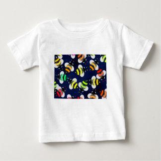 T-shirt Pour Bébé Voler d'abeilles de bande dessinée