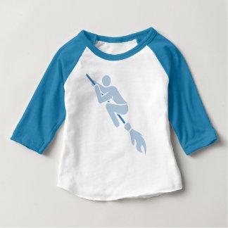 T-shirt Pour Bébé voler sur le balai magique
