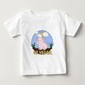 T-shirt Pour Bébé Vont le végétalien - porc mignon