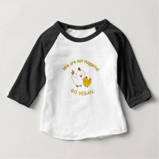 T-shirt Pour Bébé Vont le végétalien - poussin mignon