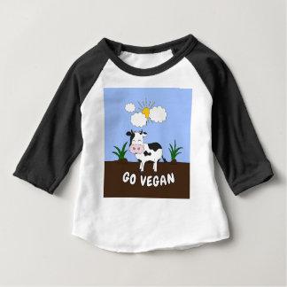 T-shirt Pour Bébé Vont le végétalien - vache mignonne