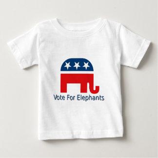 T-shirt Pour Bébé Vote pour des éléphants