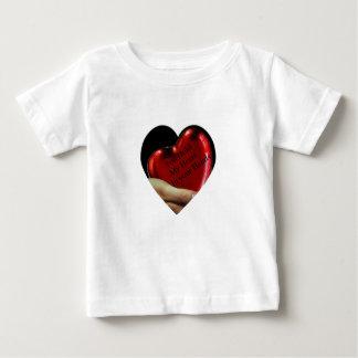 T-shirt Pour Bébé Vous tenez mon coeur dans votre valentine de mains