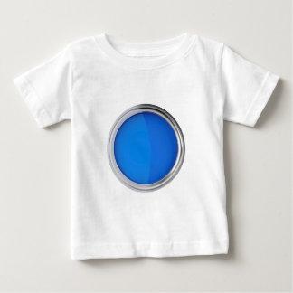 T-shirt Pour Bébé Vue supérieure de peinture bleue