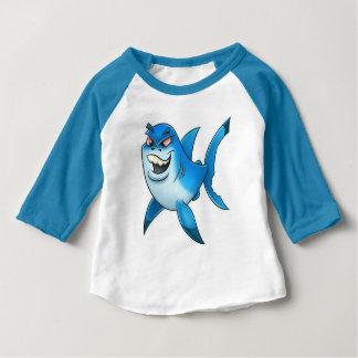 T-shirt Pour Bébé yeux de rouge de chemise de requin de bande