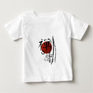 T-shirt Pour Bébé Zen de kanji avec Enso et bambou