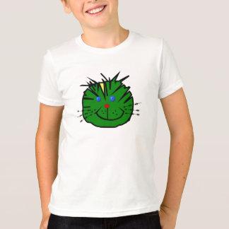 """T-shirt pour enfant """"Chat vert espiègle"""""""