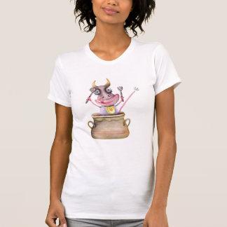 T-shirt Pour la vache drôle est le temps de déjeuner !