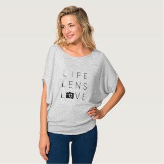 T-shirt Pour l'amour de la pièce en t de cercle de