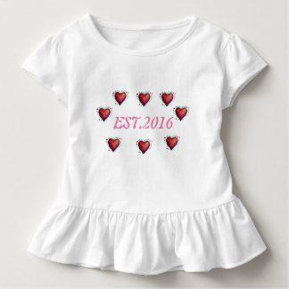 T-shirt Pour Les Tous Petits 2016 pièce en t d'enfant en bas âge établie, ęr