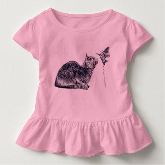 T-shirt Pour Les Tous Petits À de nouvelles amitiés ! Chat et papillon
