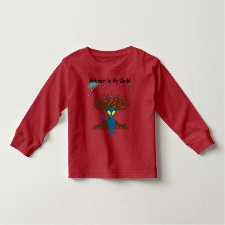 T-shirt Pour Les Tous Petits Accueil à mon signe de paix étranger bleu du monde