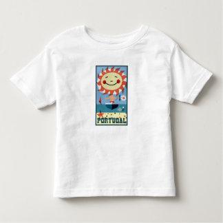 T-shirt Pour Les Tous Petits Affiche vintage de voyage du Portugal
