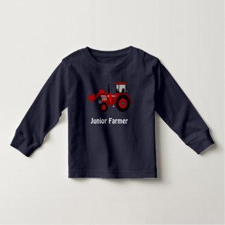 """T-shirt Pour Les Tous Petits """"Agriculteur junior"""" et tracteur rouge de chargeur"""
