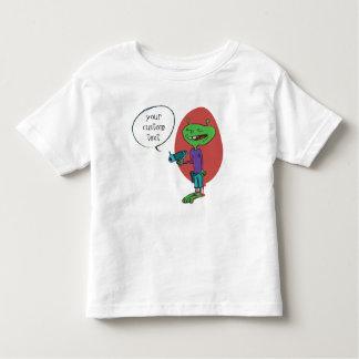 T-shirt Pour Les Tous Petits alien drôle avec la bande dessinée d'arme à feu de