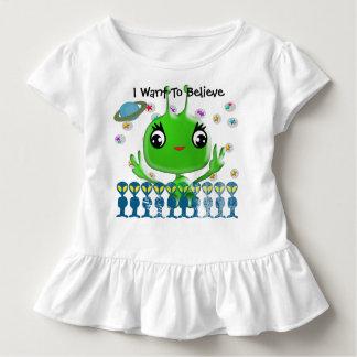 T-shirt Pour Les Tous Petits Alien ultra mignon de bébé