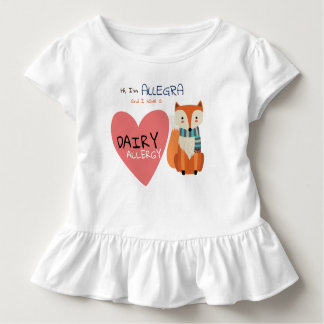 T-shirt Pour Les Tous Petits Allergie mignonne d'enfant de Fox d'animal d'hiver