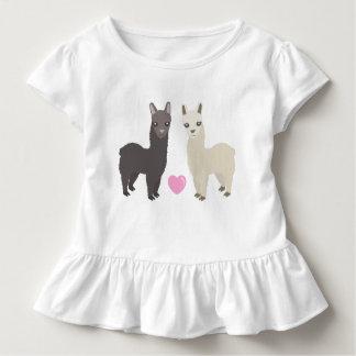 T-shirt Pour Les Tous Petits Alpaga et coeur