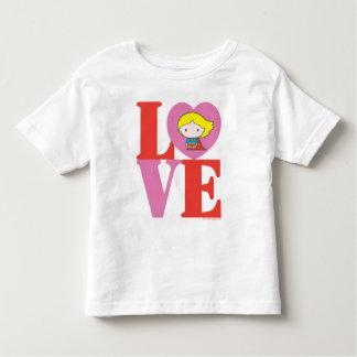 T-shirt Pour Les Tous Petits AMOUR de Chibi Supergirl
