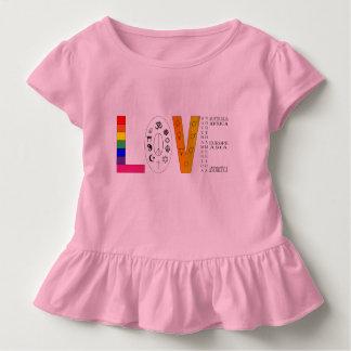 T-shirt Pour Les Tous Petits Amour universel