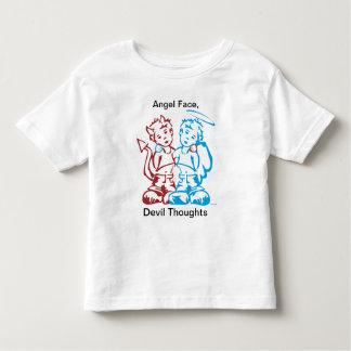 T-shirt Pour Les Tous Petits Angel Face, Devil Thoughts