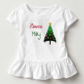 """T-shirt Pour Les Tous Petits """"Arbre de Noël"""" blanc mignon personnalisé"""