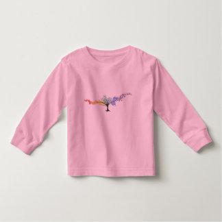 T-shirt Pour Les Tous Petits Arbre de papillons coloriés
