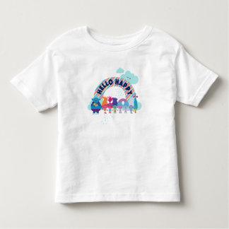T-shirt Pour Les Tous Petits Arc-en-ciel heureux des trolls |