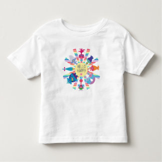 T-shirt Pour Les Tous Petits Arc-en-ciel Sun de paquet de casse-croûte des