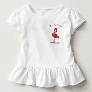 T-shirt Pour Les Tous Petits Art rose plumeux adorable de flamant