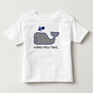 T-shirt Pour Les Tous Petits Baleine bonjour là