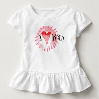 T-shirt Pour Les Tous Petits Beau coeur d'I vous pièce en t de ruche de la