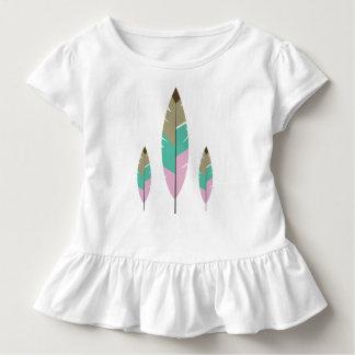 T-shirt Pour Les Tous Petits Belles filles de Tosca de plume mignonne brune