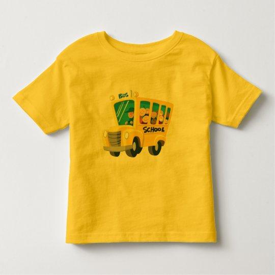 T-shirt Pour Les Tous Petits Bus school -