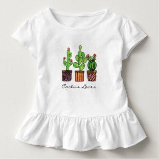 T-shirt Pour Les Tous Petits Cactus mignon d'aquarelle dans des pots