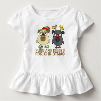 T-shirt Pour Les Tous Petits Carlins et pièce en t drôles de ruche de Noël | de