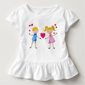 T-shirt Pour Les Tous Petits Carte d'amour de bande dessinée
